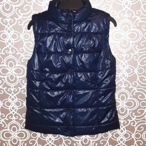 Blue Converse Puffer Vest